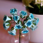 Crinkled Blue Flowers