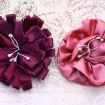 Maroon and Pink Handmade Flowers