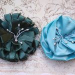 Dark and Light Blue Handmade Flowers