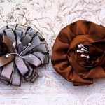 Grey and Brown Handmade Flowers