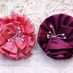 Pink and Maroon Handmade Flowers