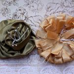 Olive Green and Beige Handmade Flowers