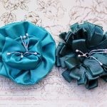 \\\\bright and Dark Blue Handmade Flowers