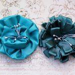 \\\\bright and Dark Blue Handmade Flowers