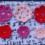 Crochet Pink Flowers
