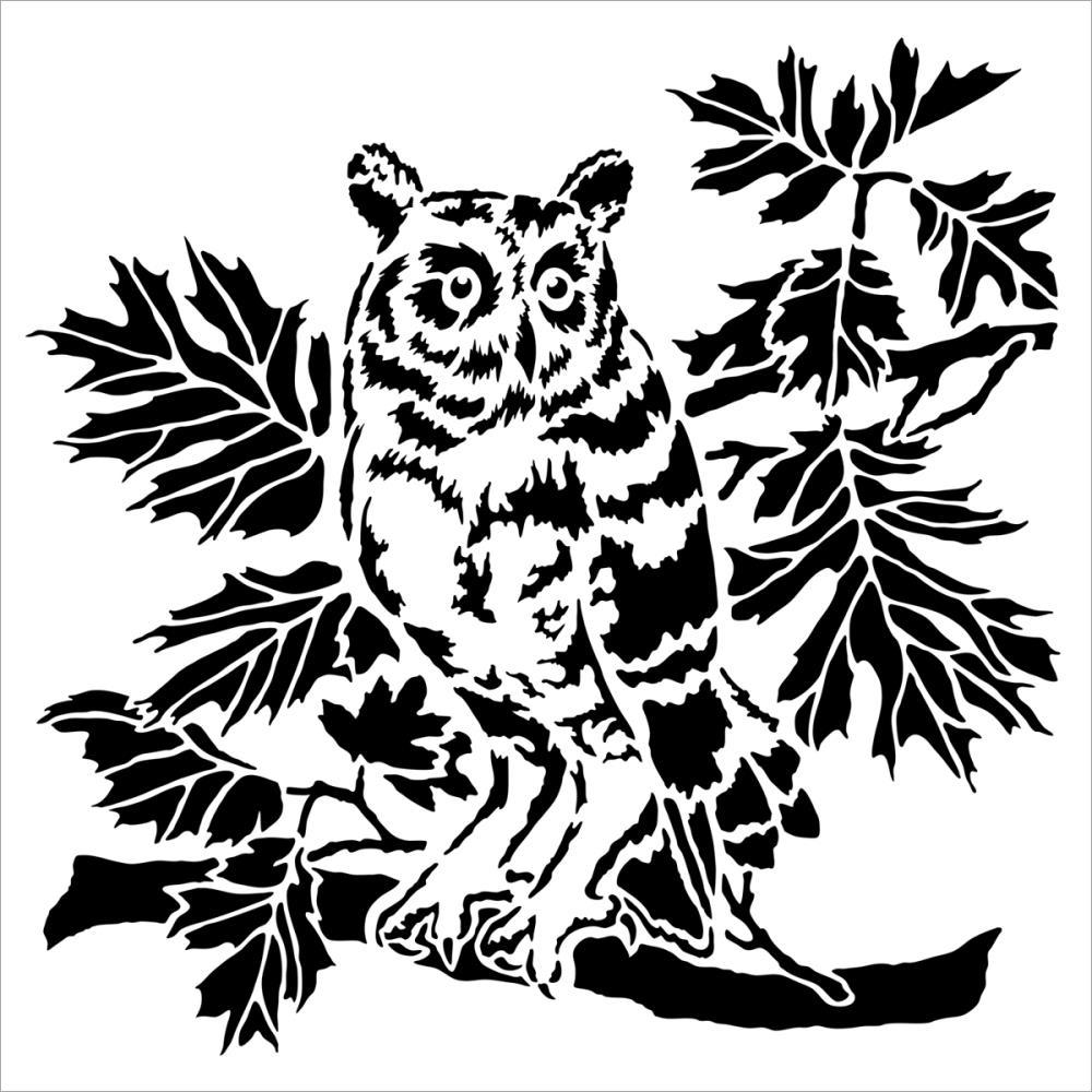 Stencils of owls 55