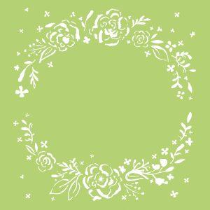 Kaisercraft 6x6 Template - Floral Wreath