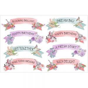 Charms Of Spring Stickers - Sayings