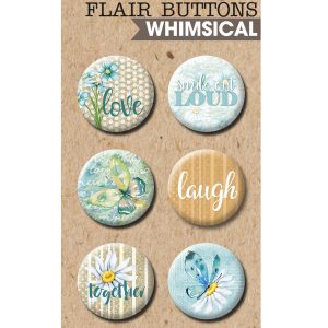 Whimsical Life Button Flairs